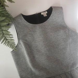 j crew daybreak knit dress with pockets gray/xs